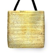 The Constitution Of The United States Of America Tote Bag by Design Turnpike