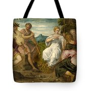 The Contest Between Apollo And Marsyas Tote Bag