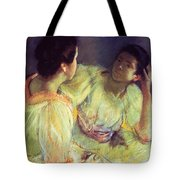 The Conversation Tote Bag by Mary Stevenson Cassatt