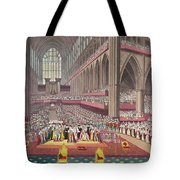 The Coronation Of King William Iv And Queen Adelaide, 1831 Colour Litho Tote Bag