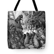 The Council Held By The Rats Tote Bag by Gustave Dore