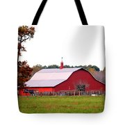 The Country Red Barn Tote Bag