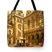The Court House-hamburg-germany - Between 1890 And 1900 Tote Bag