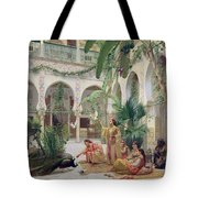 The Court Of The Harem Tote Bag by Albert Girard
