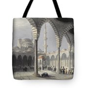 The Court Of The Mosque Of Sultan Tote Bag