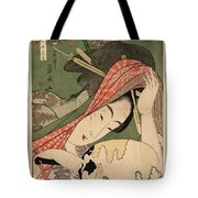 The Courtesan Tsukasa From The Ogiya House Tanabata. Star Festival  Tote Bag