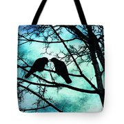The Courtship Of Crows Tote Bag