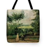 The Courtyard At Louveciennes Tote Bag