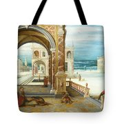 The Courtyard Of A Renaissance Palace Tote Bag