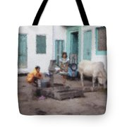 The Cow In The Yard Tote Bag