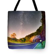 The Craggy Pinnacle Tunnel On The Blue Ridge Parkway  Tote Bag