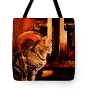 The Crane Yard Cat Tote Bag