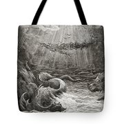 The Creation Of Fish And Birds Tote Bag