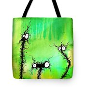 The Creatures From The Drain Painting 4 Tote Bag
