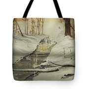 The Creek In Winter Tote Bag