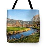 The Creek Runs Through Tote Bag