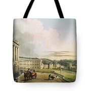 The Crescent, From Bath Illustrated Tote Bag by John Claude Nattes