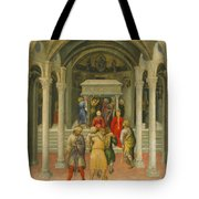 The Crippled And Sick Cured At The Tomb Of Saint Nicholas Tote Bag by Gentile da Fabriano