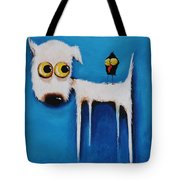 The Crow And The Dog Tote Bag