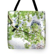 The Crow And The Eiffel Tower Tote Bag