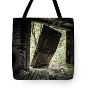 The Crowd Gathers Outside - Abandoned Apple Barn Tote Bag by Gary Heller
