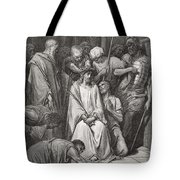 The Crown Of Thorns Tote Bag by Gustave Dore