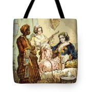 The Cup Of Coffee Two Women Taking Tote Bag by Amadeo Preziosi
