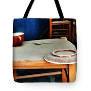 The Cup Saucer And Spoon Tote Bag