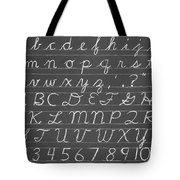 The Cursive Alphabet Tote Bag