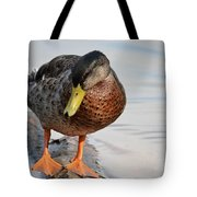 The Cute Brown Duck Tote Bag