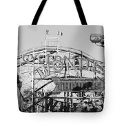 The Cyclone In Black And White Tote Bag