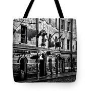 The Czech Inn - Dublin Ireland In Black And White Tote Bag
