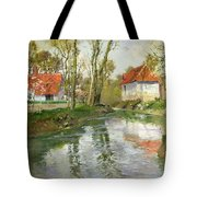 The Dairy At Quimperle Tote Bag by Fritz Thaulow