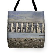 The Dalles Dam Along Columbia River Tote Bag