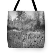 The Dance Of The Cattails Bw Tote Bag