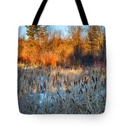 The Dance Of The Cattails Tote Bag