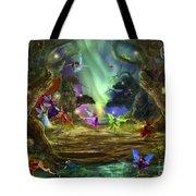The Dancing Auroras Tote Bag
