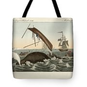 The Dangers Of Whale Fishing Tote Bag