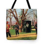 The Daughter Of The English Ambassador Riding In A Palanquin Tote Bag