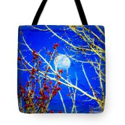 The Day The Moon Stayed Out All Day Tote Bag