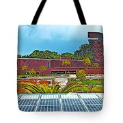 The De Young Fine Arts Museum From Roof Of California Academy Of Sciences In Golden Gate Park-ca Tote Bag