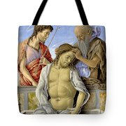 The Dead Christ Supported By Saints Tote Bag
