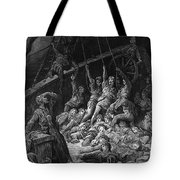 The Dead Sailors Rise Up And Start To Work The Ropes Of The Ship So That It Begins To Move Tote Bag