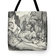 The Death Of Beowulf Tote Bag