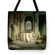 The Death Of Caesar Tote Bag