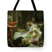 The Death Of Cleopatra, 1755 Oil On Canvas Tote Bag