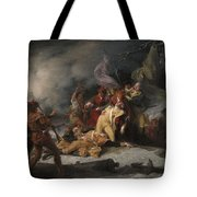 The Death Of General Montgomery In The Attack On Quebec, December 31, 1775, 1786 Oil On Canvas Tote Bag