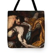 The Death Of King Josiah Tote Bag