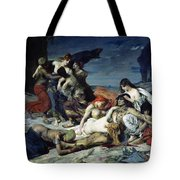 The Death Of Ravana Tote Bag by Fernand Cormon