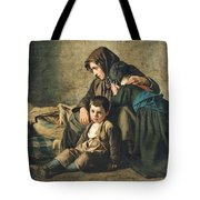 The Death Of The Pauper Oil On Canvas Tote Bag